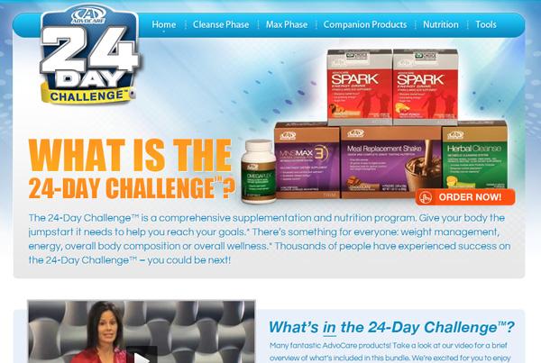 AdvoCare 24day Challenge Microsite