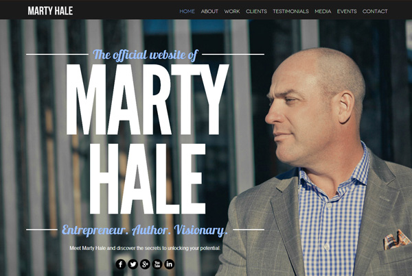 The official website of Marty Hale